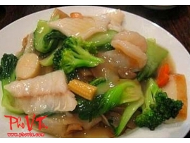 Com Xao Do Bien - Stir fry seafood on rice