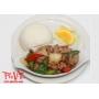 Com Ga Xao Xa Ot - Stir fry spicy lemongrass chicken on rice