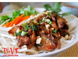 Bun Thit Nuong - Vermicelli with grilled pork