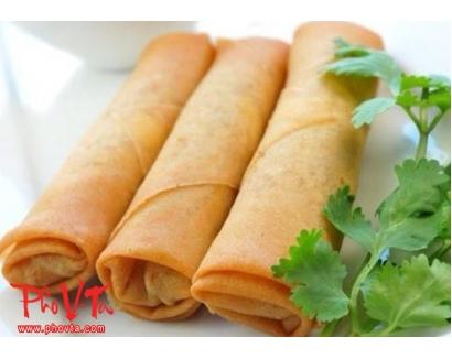 1. Spring rolls (2 rolls)