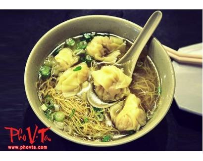 7. Wonton in noodle soup