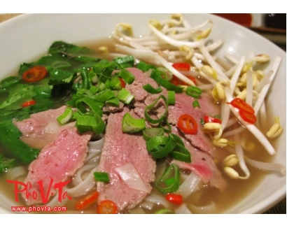 18. Pho Tai - Beef noodle soup with rare beef slices.