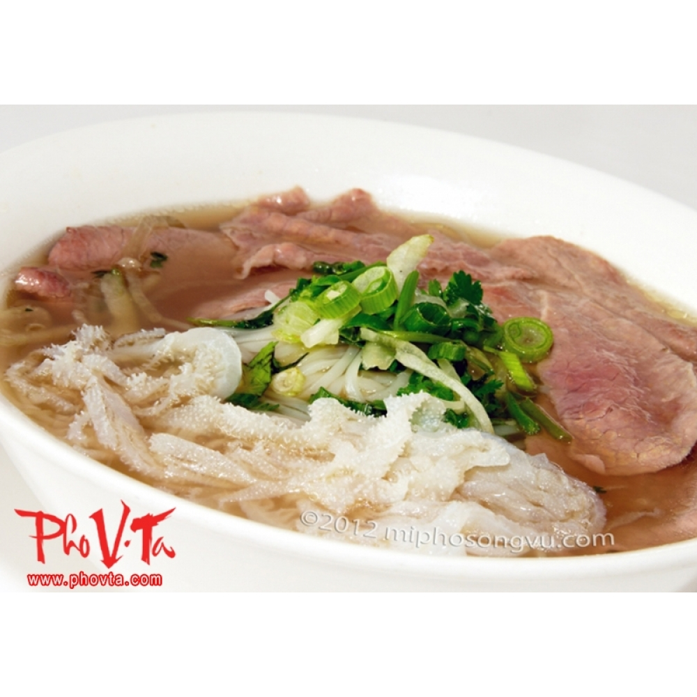 Pho Tai Sach Rare Beef Slices And Tripe
