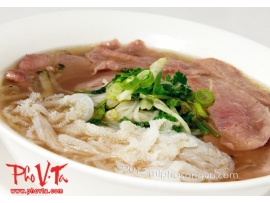Pho tai, Sach - Rare beef slices and tripe