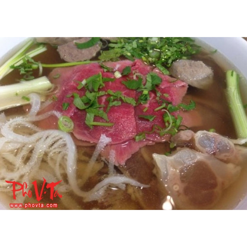21 Pho Tai Gan Rare Beef Slices And Tendon