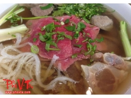 21. Pho tai, Gan - Rare beef slices and tendon