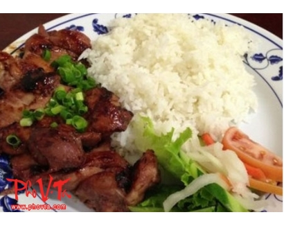 30. Com Suon - Pork chop on rice